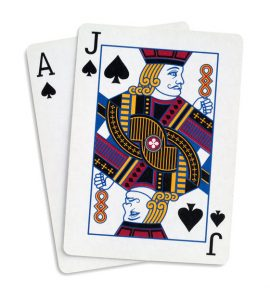 Blackjack: Ace, Jack of Spades