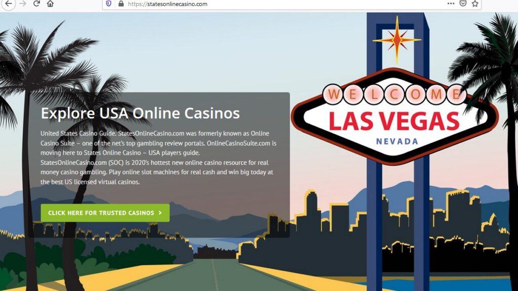States Online Casino Homepage